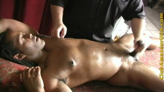 Amateur guy gets massage and handjob