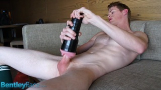 Ginger Aussie Plays with Fleshlight