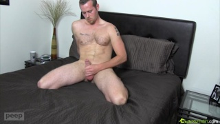 Handsome Hairy Stud Gives Private Peep Show