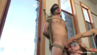 Straight Guy Tied Up for Cock Edging