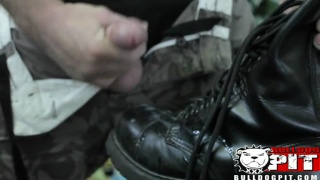 Rick Bauer Jacks and Cums on Boots
