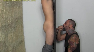 Skinny Guy Blown at Glory Hole
