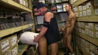 Office Bottom Boy Screwed in Store Room