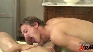 Stretching Bottom's Butt Hole with Fat Cock