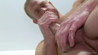 Blond Hunk Christopher Daniels Jerks Off