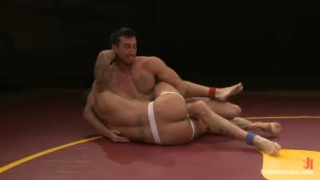 Nude Wrestlers Casey More and Rod Daily