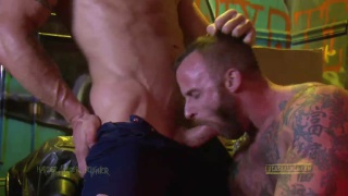 Furry Derek Parked Screwed by Hunk Trenton Ducati