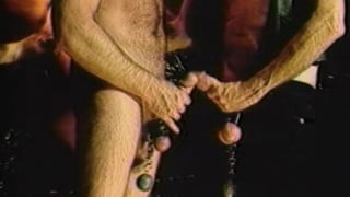 Creaming mature men with cockrings