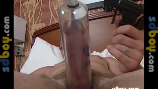 Dude and his Penis Pump