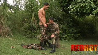 Latino Soldiers Fucking in Uniform