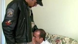 Cock sucking prisoner and cop