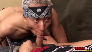 Latino Takes Asian Boy's Hole