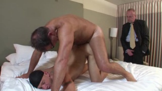 Daddy Catches his Boy Cheating