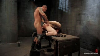Tied down and fucked hard