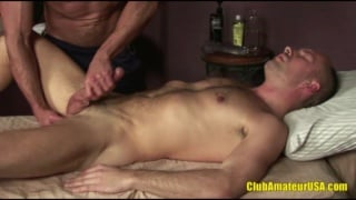 Dildo Fucking Marco Rodriguez on Massage Table