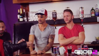 Muscle Hunks Banging in a Bar