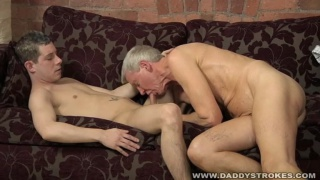 Daddy & Boy Swap Blowjobs