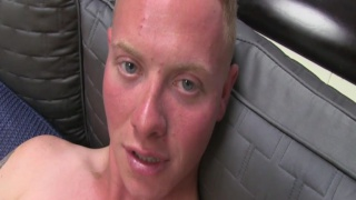 Strawberry Blond Guy Stroking