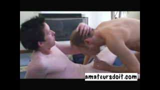 Young Aussie Sits on Fat Cock