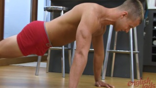 Toned and Athletic Brit Trainer Shows Off
