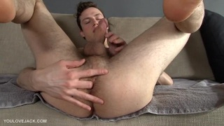 Hung Guy Fingers Hole & Jacks Off
