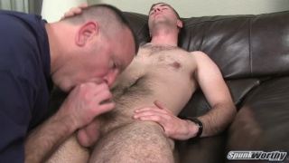 Furry Stud Gets Head and Rimjob