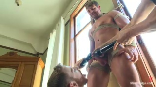 Logan Vaughn Bound and Sucked Off