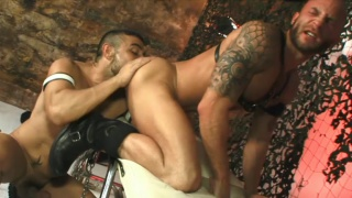 Bald Tattooed Man Ass Fucked
