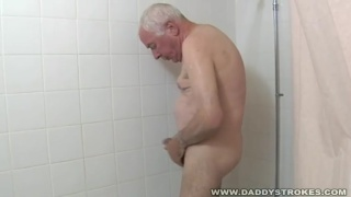 Grandpa Jacking in the Shower