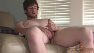 Sexy Redhead Justin Jacking his Meat