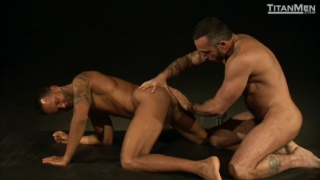 Latin Muscle Bear Alessio Romero Ramming Butt