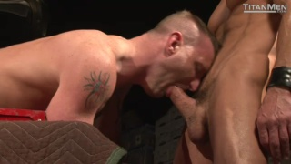 Christopher Daniels Threesome in Store Room