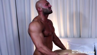 Bald Muscle HunkMax Chevalier Fucks Christian Power