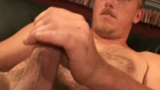 Furry Str8 Guy Jerks his Cock