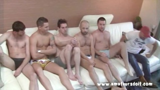 6 Aussie Cocks in Group Sex