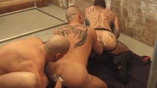 Tattooed Fisting Pigs Threeway