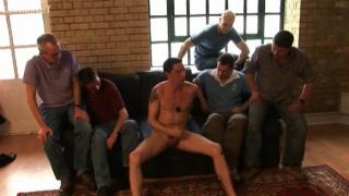 Naked Guy Entertains Gang of 5 Pervy Men