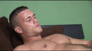 Mark Marin strokes his hot dick