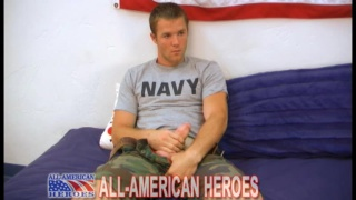 Navy hunk Tex jerking