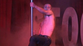 Naked male dancer shows amazing body