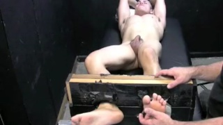Bert gets his feet tickled in bondage