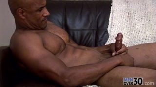 Hot Bald Hunk Beating Off