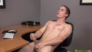 hot young jock jerks off