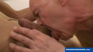 Latino Daddy Sucking Off Younger Guy