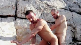 masculine men fucking on the beach