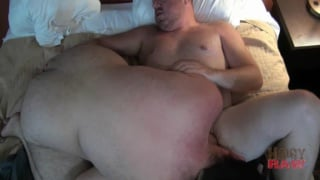 daddy bear drilling raw bear butt
