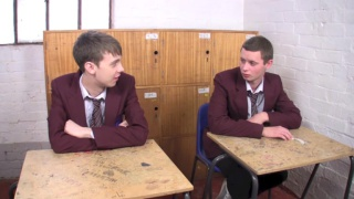 uniformed school boys get nasty in detention