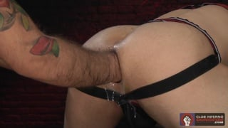 Alessandro Del Toro fills Mikoah's hole with fist