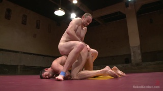 naked wrestlers fight and fuck on mats