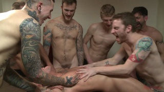 hung stud in hood gets ass gang fucked